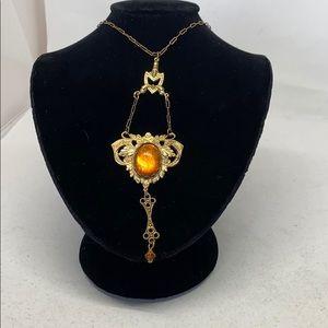 Jewelry - Antique Art Nouveau brass necklace